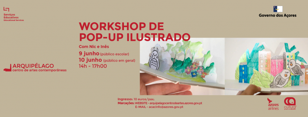 Workshop de Pop-Up Ilustrado<br/> com Nic e Inês