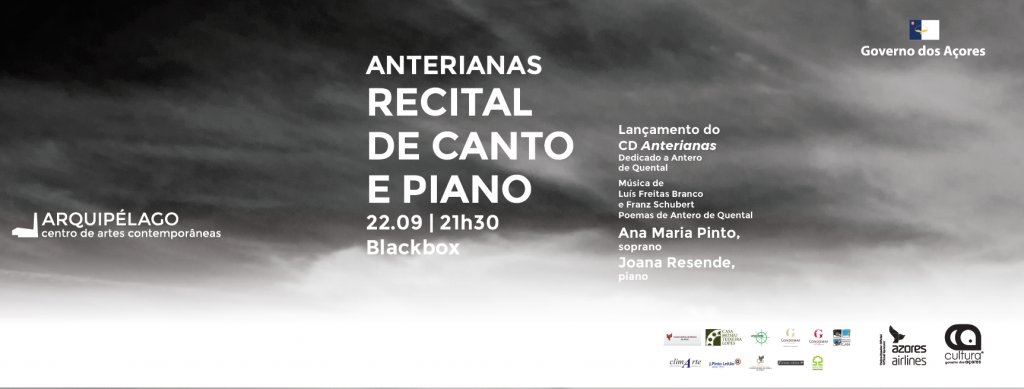 ANTERIANAS <br/> Recital de Canto e Piano <br/> Lançamento do CD